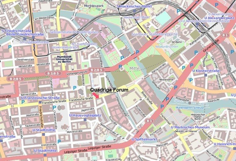 Umgebungskarte Quadriga Forum