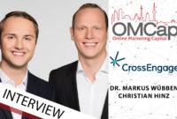 Dr. Markus Wübben und Manuel Hinz von CrossEngage im Gespräch