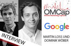 Gesprächsrunde mit Dominik Wöber und Martin Loss von Google