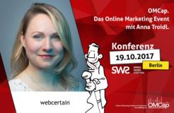 Vorstellungsrunde mit Anna Troidl von Webcertain