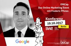 Speakervorstellung: Frederic Pfister von Google